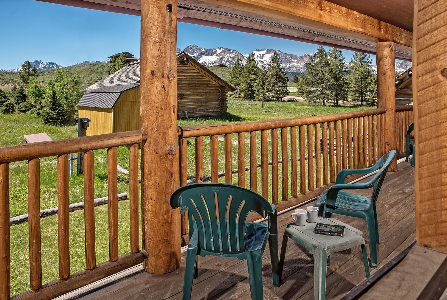 porch with mountain view
